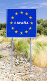 Sign at the border of Spain — Stock Photo