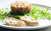 Salmon tartare — Stock Photo