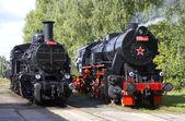 Steam locomotives — Stock Photo
