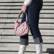 White boots with handbag — ストック写真