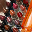 Lipsticks and glazewear — Stock Photo