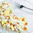 Christmas potato salad — Stock Photo