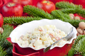 Christmas potato salad — Foto de Stock