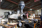 Steam locomotive depot — Stock Photo