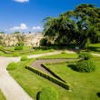 Garden of Chateau de Montreuil-Bellay — Stock Photo