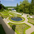 Usse Castle's garden — Stock Photo