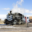 Cumbres and Toltec Narrow Gauge Railroad - 图库照片