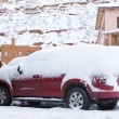 Stock Photo: Snowy car