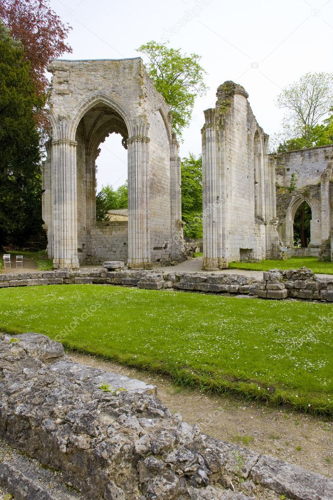 Abbey of Jumieges, Normandy, France  Stock Photo #4167227