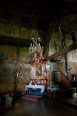 Interior of wooden church — ストック写真