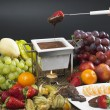 Chocolate fondue — Stock Photo #4212652