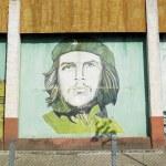Political mural painting (Che Guevara), Ceiba Hueca, Granma Prov — Stock Photo