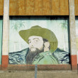Political mural painting (Fidel Castro), CeibHueca, GranmPro — Stock Photo #4212723
