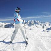 Woman skier — Stock Photo