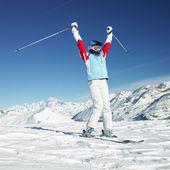 Woman skier — Stock Photo