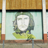 Political mural painting (Che Guevara), Ceiba Hueca, Granma Prov — Stock Photo