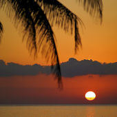 Sunset over Caribbean Sea, Mar — Stock Photo