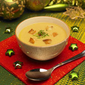 Christmas fish soup — Stock Photo
