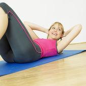 Doing exercises — Stock Photo