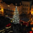 Old Town Square at Christmas time, Prague - Stock Photo