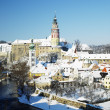Cesky Krumlov in winter - Stock Photo