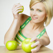 Woman with apples — Stock Photo #4228291