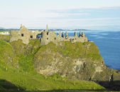 Ruins of Dunluce Castle — 图库照片