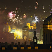 New Year's Eve in Prague — Stock Photo