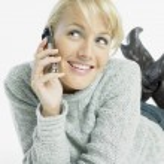 Calling woman — Stock Photo