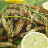 Fried anchovies — Stockfoto