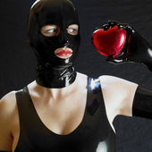 Portrait of woman in latex — Stock Photo