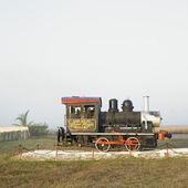 Memorial of steam locomotive, Ren — Stock Photo