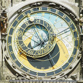 Detail of Horloge, Prague, Czech Republic — Stock Photo