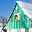 Stock Photo: Cottage in winte
