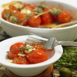 Warm tomato salad — Stock Photo