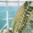 Lighthouse''s interior, Fresnel lens, Cayo Pared - Stock Photo