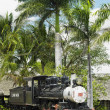 Memorial of steam locomotive Baldwin, Aguada, Cienfuegos Province, Cuba — Stock Photo