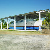 Copy of Fidel Castro''s ship, Parque Nacional Desembarco del Gra — Stock Photo