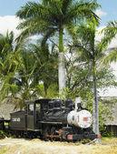 Memorial de vapor locomotora baldwin, aguada, provincia de cienfuegos, cuba — Foto de Stock