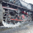 Detail of steam locomotive (33-326), Dubrava, Bosnia and Hercego — Stock Photo