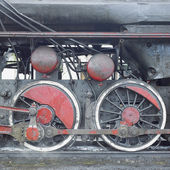 Detail of steam locomotive — Stock Photo