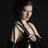 Frau in latex — Stockfoto