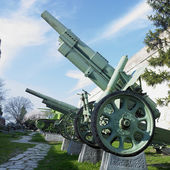 Military technique, fortress Kalemegdan, Belgrade, Serbia — Stock Photo