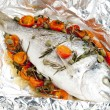 Stock Photo: Bream baked