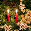 Christmas still life with candles — Stock Photo #4355853