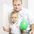 Portrait of father with his little son — Stock Photo