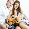 Stock Photo: Young family