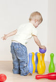 Standing toddler — Stock Photo