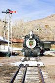 Stem locomotive — Stock Photo
