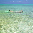 Stock Photo: Snorkeling, Mar